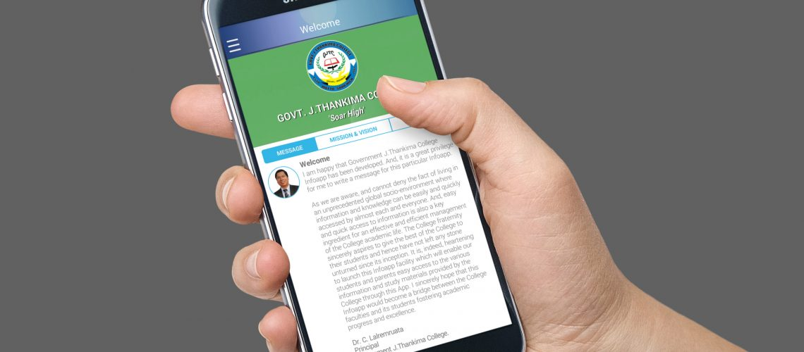R. Romawia, Hon'ble Minister of Higher Education launched GJTC info-app for android devices