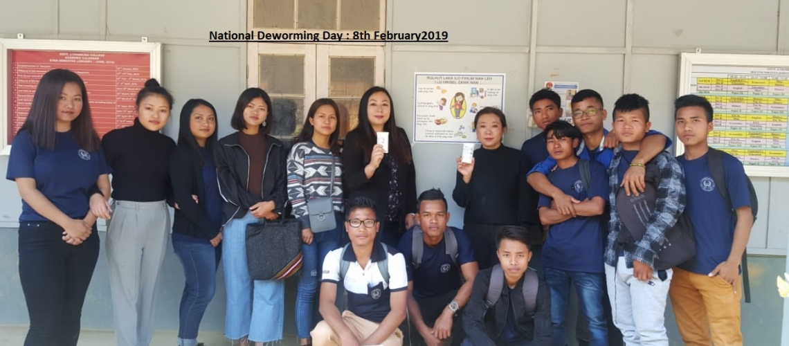 Observed National Deworming Day 2019 : GJTC 8th Feb, 2019