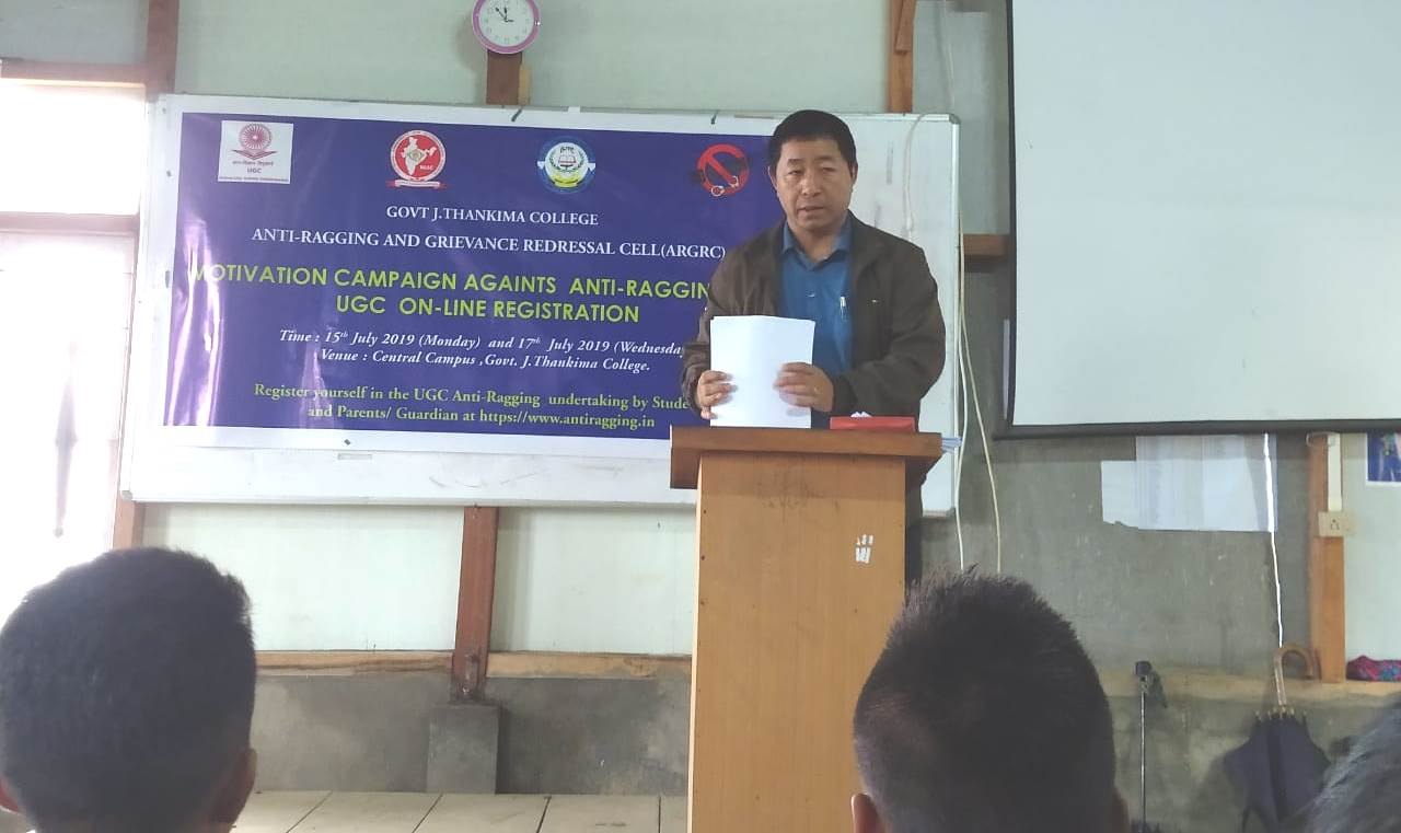 GJTC 18th July, 2019: Motivation Campaign on Anti-Ragging