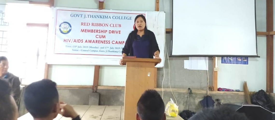 GJTC, 18th July 2019: Red Ribbon Club Membership Drive (2019) Cum HIV Aids Awareness Campaign