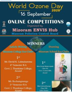 Winners of Article Writing & Drawing (World Ozone Day) : GJTC 17th Sept, 2020 1