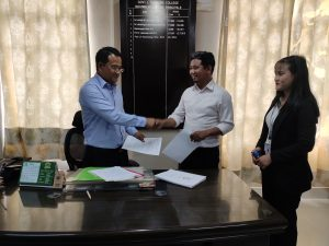 GJTC 26th March, 2021: Signing of MoU with MEDHAVI FOUNDATION, Aizawl