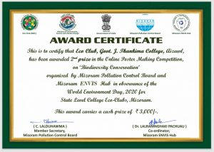 GJTC 23rd April, 2021: Online Poster Making Competition (World Environment Day - 2020) 1