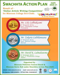 GJTC 23rd April, 2021: Swattcha Action Plan 2020-21 (Online Article Writing Competition)