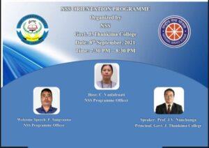 GJTC 10th Sept, 2021 : NSS Orientation Programme