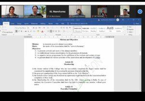 GJTC 8th Sept, 2021 : Virtual Consultation - IQAC and Alumni 1