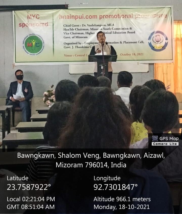 Promotional Programme of Mizoram Youth Commission (MYC) Job Portal : hnainpui.com